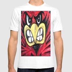 Fighting Cardinal White Mens Fitted Tee MEDIUM