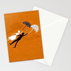 I love you let's fly Stationery Cards