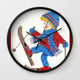 Ski Boy Wall Clock