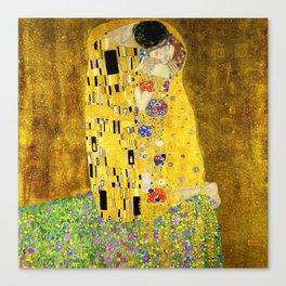 The Kiss by Klimt Canvas Print
