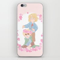 hetalia iPhone & iPod Skins featuring Flower Crown by kitkatkatee