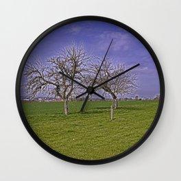 trees and fields near Laupheim Wall Clock