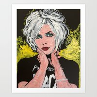 blondie Art Prints featuring Blondie by Matt Pecson