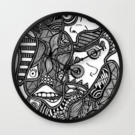 Faces in the Dark Wall Clock