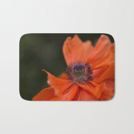 Poppyqueen Poppy Flower Flowers Poppies Bath Mat