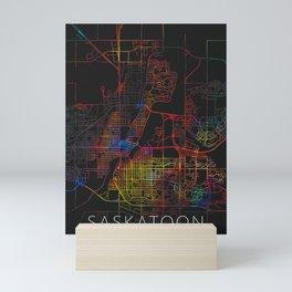 Saskatoon Canada City Map Mini Art Print