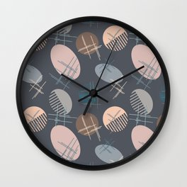 Comb and hand-mirror abstract with dark background Wall Clock