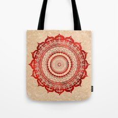 omulyána red gallery mandala Tote Bag