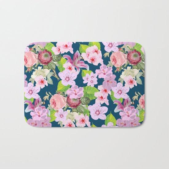 Pink Spring I Bath Mat