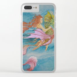 Serpent Rider Clear iPhone Case