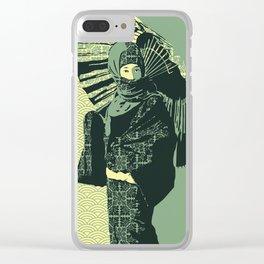 ASIAN WOMAN-GREEN VERSION Clear iPhone Case