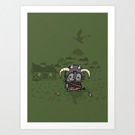 Adventurer Cat! Art Print