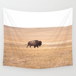 Buffalo Roaming (doing it's thing) Wall Tapestry