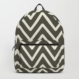 Chevron Wave Grape Leaf and Glass Green Backpack