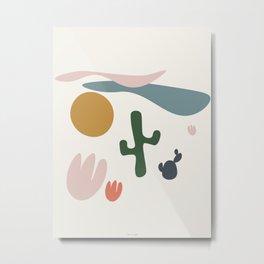 Cactus Desert Metal Print