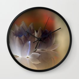 the different waterlily Wall Clock