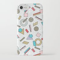 toddler iPhone & iPod Cases featuring Modern Memphis Inspired Geometric Gold Pattern by Season of Victory