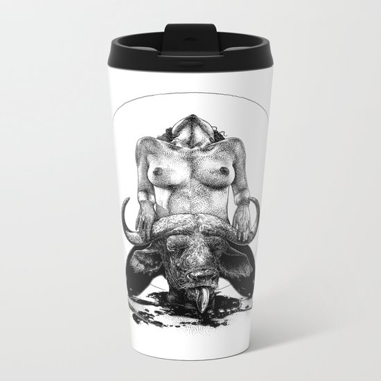 asc 729 - La lune de chasse (Two went in. I came out) Metal Travel Mug