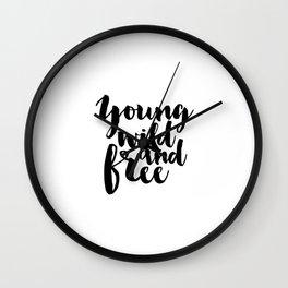 PRINTABLE ART Nursery Poster Wild And Free Arrow Wall Decor Arrow Print Typography Poster Inspiratio Wall Clock
