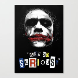 The Joker (Why So Serious?) - Movie Inspired Art Canvas Print
