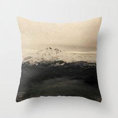 Icy Mountain Throw Pillow