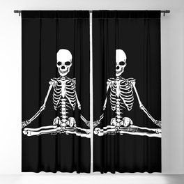 Meditation Skeleton Blackout Curtain