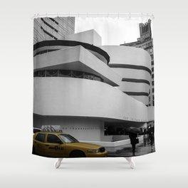 New York, Solomon R Guggenheim Museum, Frank Lloyd Wright, NYC Taxi Shower Curtain