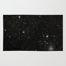 Universe Space Stars Planets Galaxy Black and White Rug