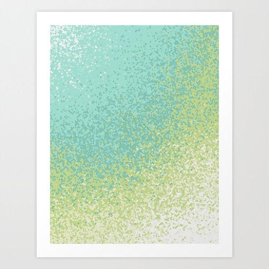 Abstract Green Blend Art Print