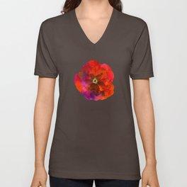 Poppies on black #2 Unisex V-Neck