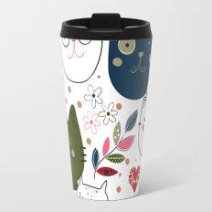 Cats Cute Pattern Travel Mug