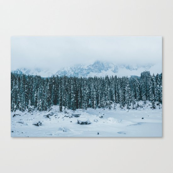 Blue and White - Landscape Photography Canvas Print
