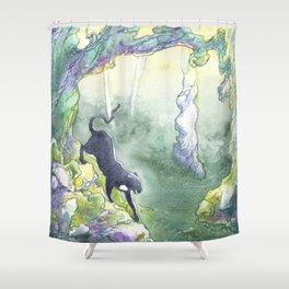 Cait Sith Shower Curtain