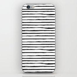 Broken black lines iPhone Skin