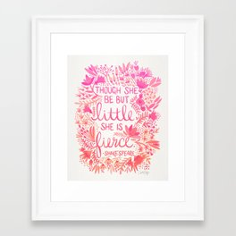 Little & Fierce – Pink Ombré Framed Art Print