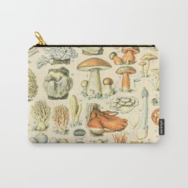 Mushroom Diagram // Champignons II XL by Adolphe Millot 19th Century Science Textbook Artwork Carry-All Pouch