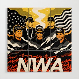 N.W.A Wood Wall Art
