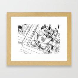 Un Voisin pas comme les Autres / An Unusual Neighbour Framed Art Print