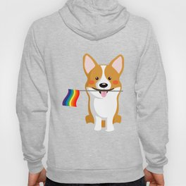 LGBT Gay Pride Flag Corgi - Pride Women Gay Men Hoody
