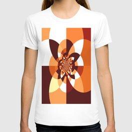 Orange Brown Cream Kaleidoscope T-shirt