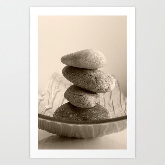 Stones Monotony Art Print
