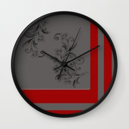 Gray x Red Wall Clock