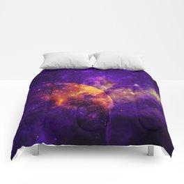 Planet, Nebula and Stars Comforters