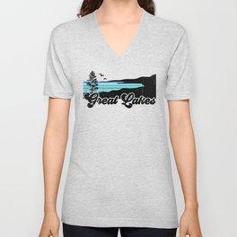 Great Lakes Coast Unisex V-Neck