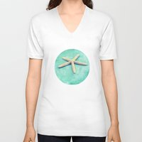 starfish V-neck T-shirts featuring starfish by Sylvia Cook Photography