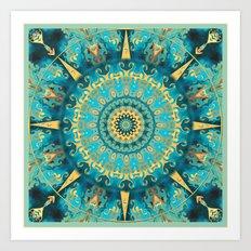 Caribbean Gold Mandala Art Print