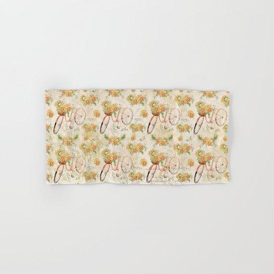 Vintage Sunflowers #11 Hand & Bath Towel