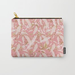 Golden Peacock Feather Pattern 05 Carry-All Pouch