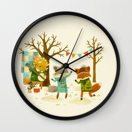 Critters: Spring Dancing Wall Clock