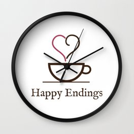 Happy Endings Podcast Logo Wall Clock